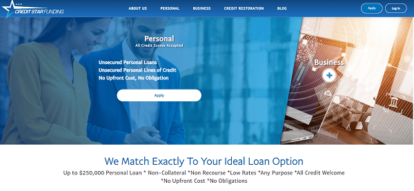 Is Credit Star Funding A Scam Landing Page