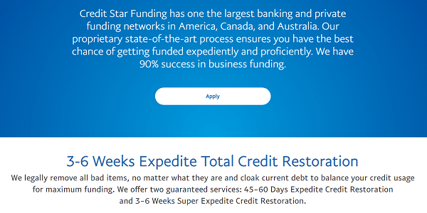 Is Credit Star Funding A Scam Promises