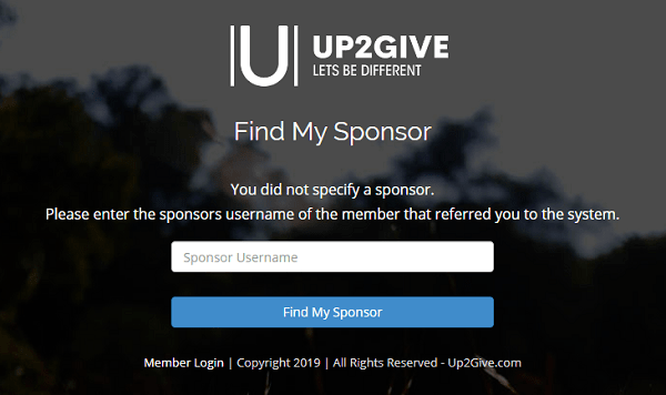Is Up2Give A Scam Sponsor Page-min