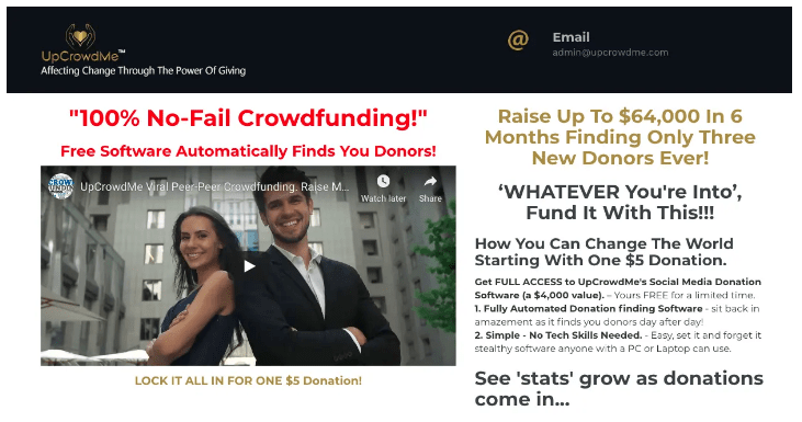 Is UpCrowdMe A Scam Landing Page